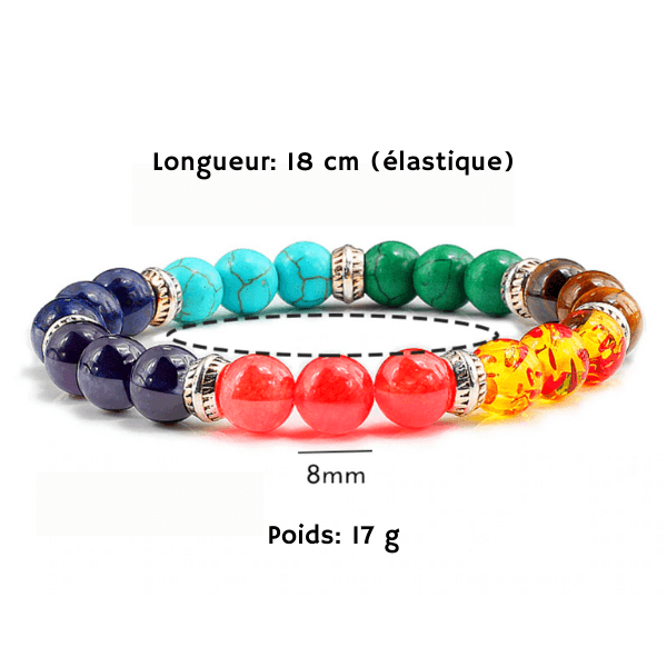 bracelet des 7 chakras