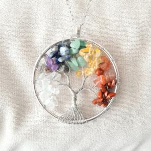 pendentif pierres arbre de vie