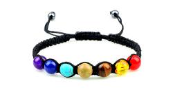 pierres chakras bracelet