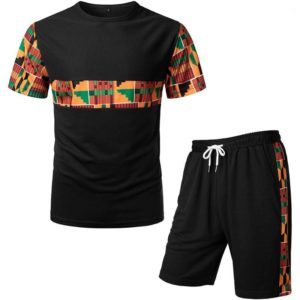 Ensemble de survêtement T-Shirt et Short Dashiki