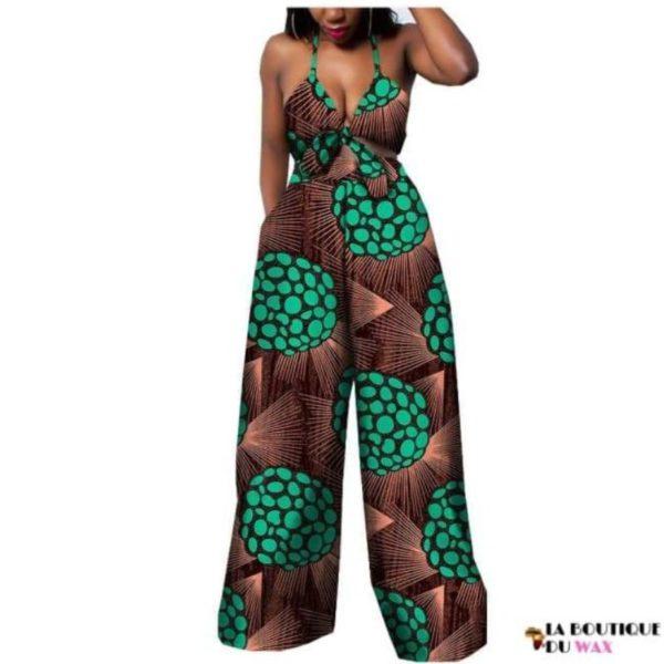Ensemble deux pièces pour les femmes en imprimer Dashiki, pantalon large- laboutiqueduwax.fr (1)