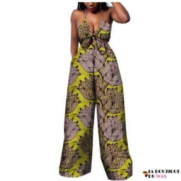 Ensemble deux pièces pour les femmes en imprimer Dashiki, pantalon large- laboutiqueduwax.fr (11)