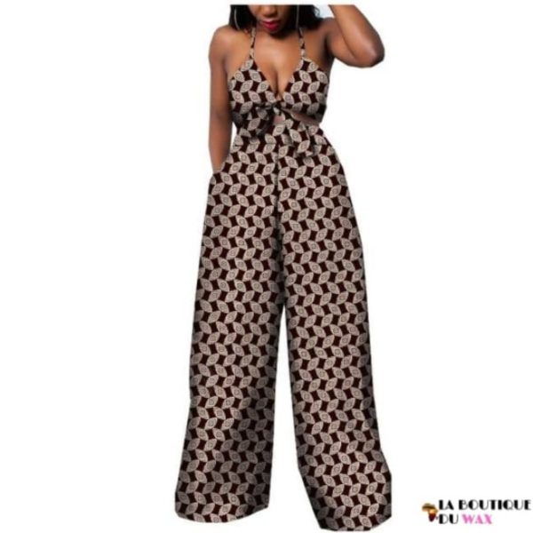 Ensemble deux pièces pour les femmes en imprimer Dashiki, pantalon large- laboutiqueduwax.fr (13)