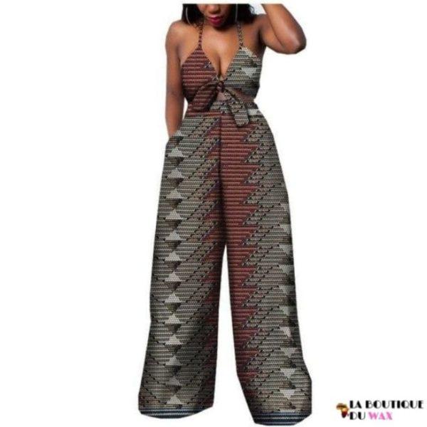Ensemble deux pièces pour les femmes en imprimer Dashiki, pantalon large- laboutiqueduwax.fr (15)