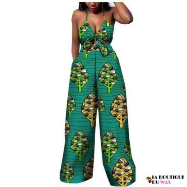 Ensemble deux pièces pour les femmes en imprimer Dashiki, pantalon large- laboutiqueduwax.fr (16)