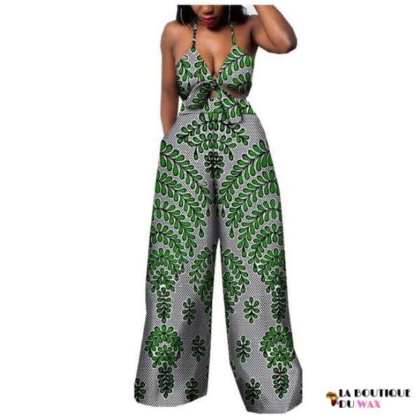 Ensemble deux pièces pour les femmes en imprimer Dashiki, pantalon large- laboutiqueduwax.fr (17)