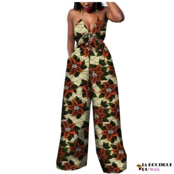 Ensemble deux pièces pour les femmes en imprimer Dashiki, pantalon large- laboutiqueduwax.fr (18)