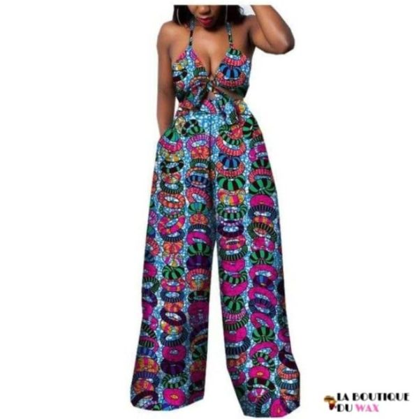 Ensemble deux pièces pour les femmes en imprimer Dashiki, pantalon large- laboutiqueduwax.fr (19)