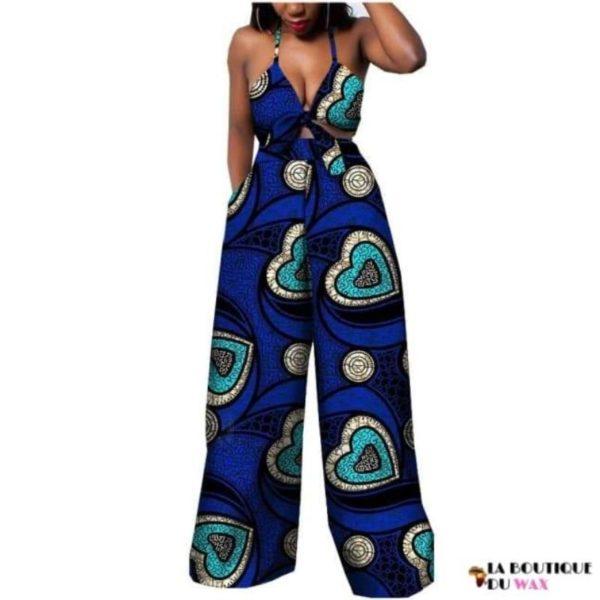 Ensemble deux pièces pour les femmes en imprimer Dashiki, pantalon large- laboutiqueduwax.fr (2)