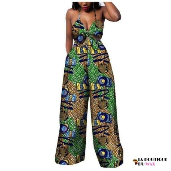 Ensemble deux pièces pour les femmes en imprimer Dashiki, pantalon large- laboutiqueduwax.fr (20)
