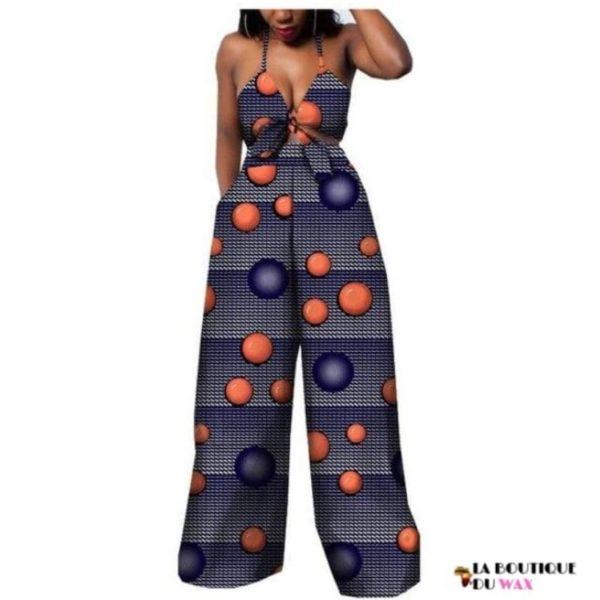 Ensemble deux pièces pour les femmes en imprimer Dashiki, pantalon large- laboutiqueduwax.fr (23)