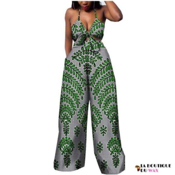 Ensemble deux pièces pour les femmes en imprimer Dashiki, pantalon large- laboutiqueduwax.fr (4)