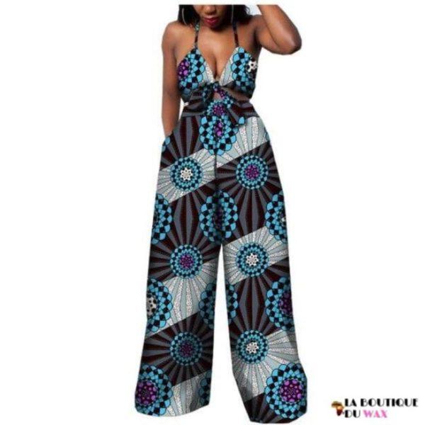 Ensemble deux pièces pour les femmes en imprimer Dashiki, pantalon large- laboutiqueduwax.fr (9)