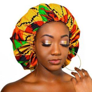 Grand Bonnet en Satin Doublé style Afrique