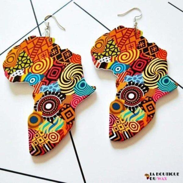 Boucle d'oreille Vintage carte d'Afrique - 1 - Boucles