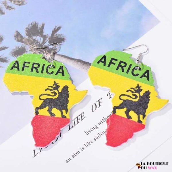 Boucle d'oreille Vintage carte d'Afrique - 2 - Boucles