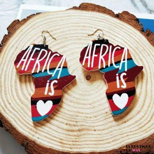 Boucle d'oreille Vintage carte d'Afrique - 9 - Boucles