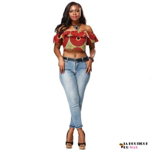 Bustier court en imprimé Dashiki - Vêtements style africain