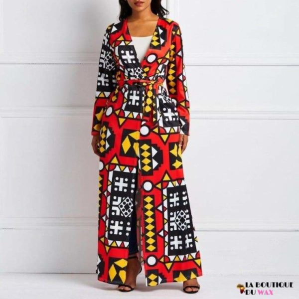 Cardigan Imprimé Mode Africaine - Rouge / S - Trench