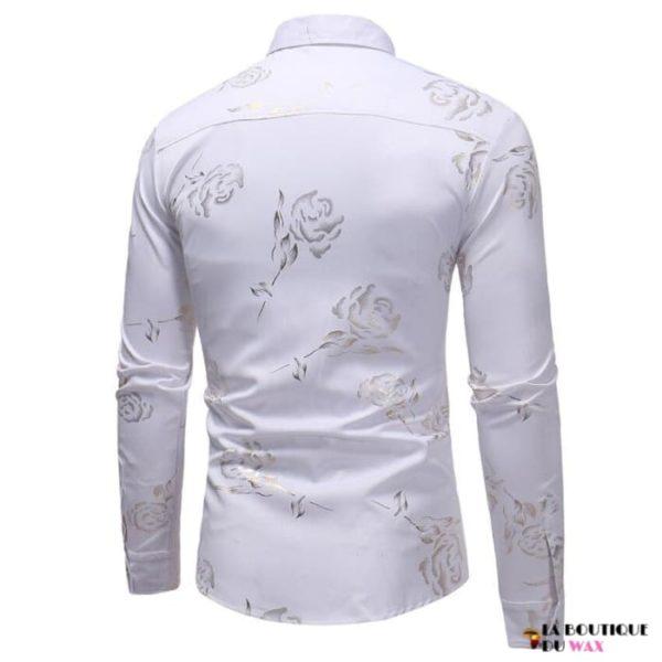 Chemise Africaine classique avec motif à fleur