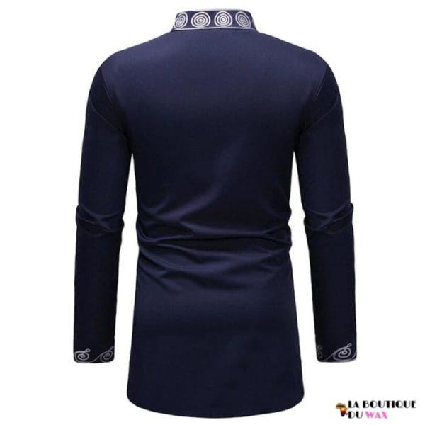 Chemise Fashion Bazin Riche à manches longues style Dashiki pour homme