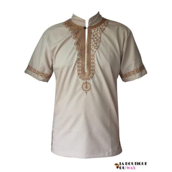 Chemise pour homme de style Africain  décontracté
