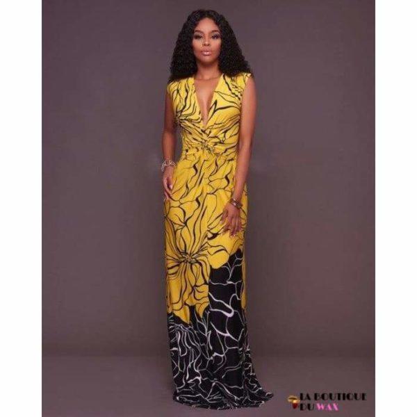 Élégante robe Africaines de style longue - MULTI / L -