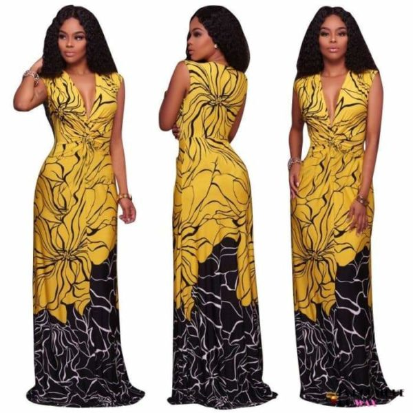Élégante robe Africaines de style longue