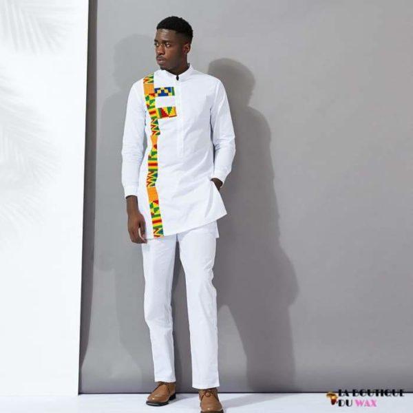 Ensemble Deux pièces Chemise et Pantalon Blancs de style