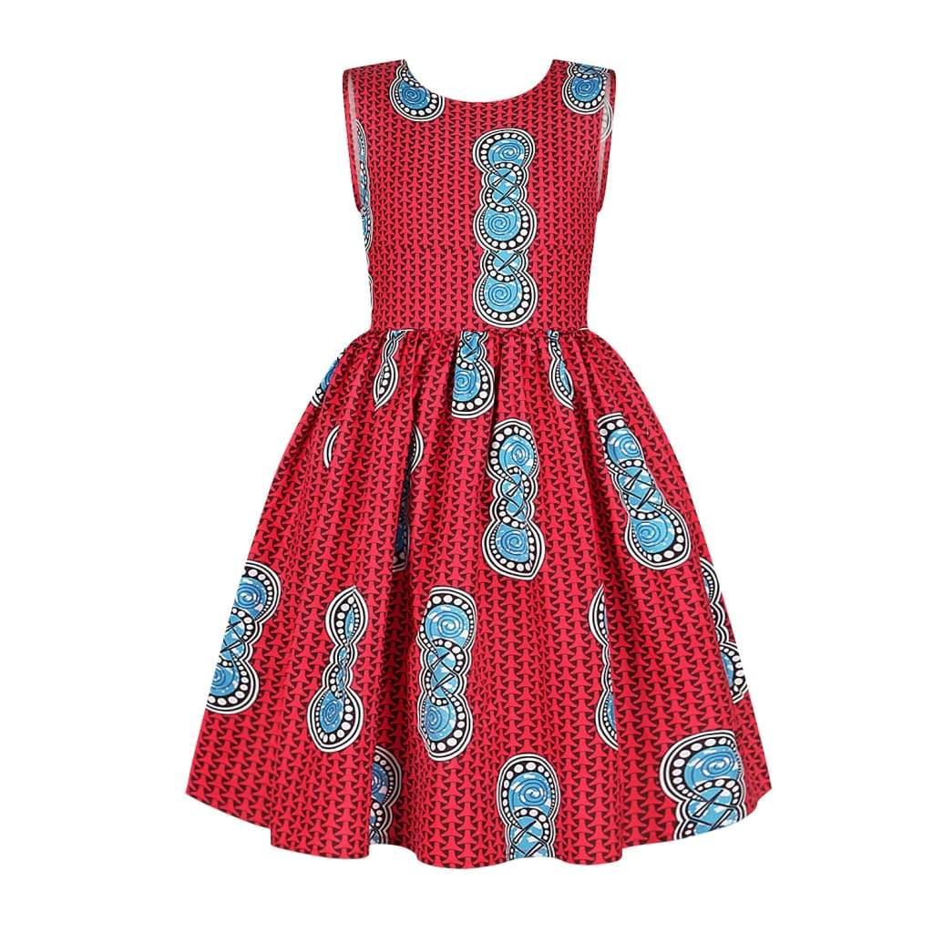 Robe Africaine pour jeune fille imprimée Kente