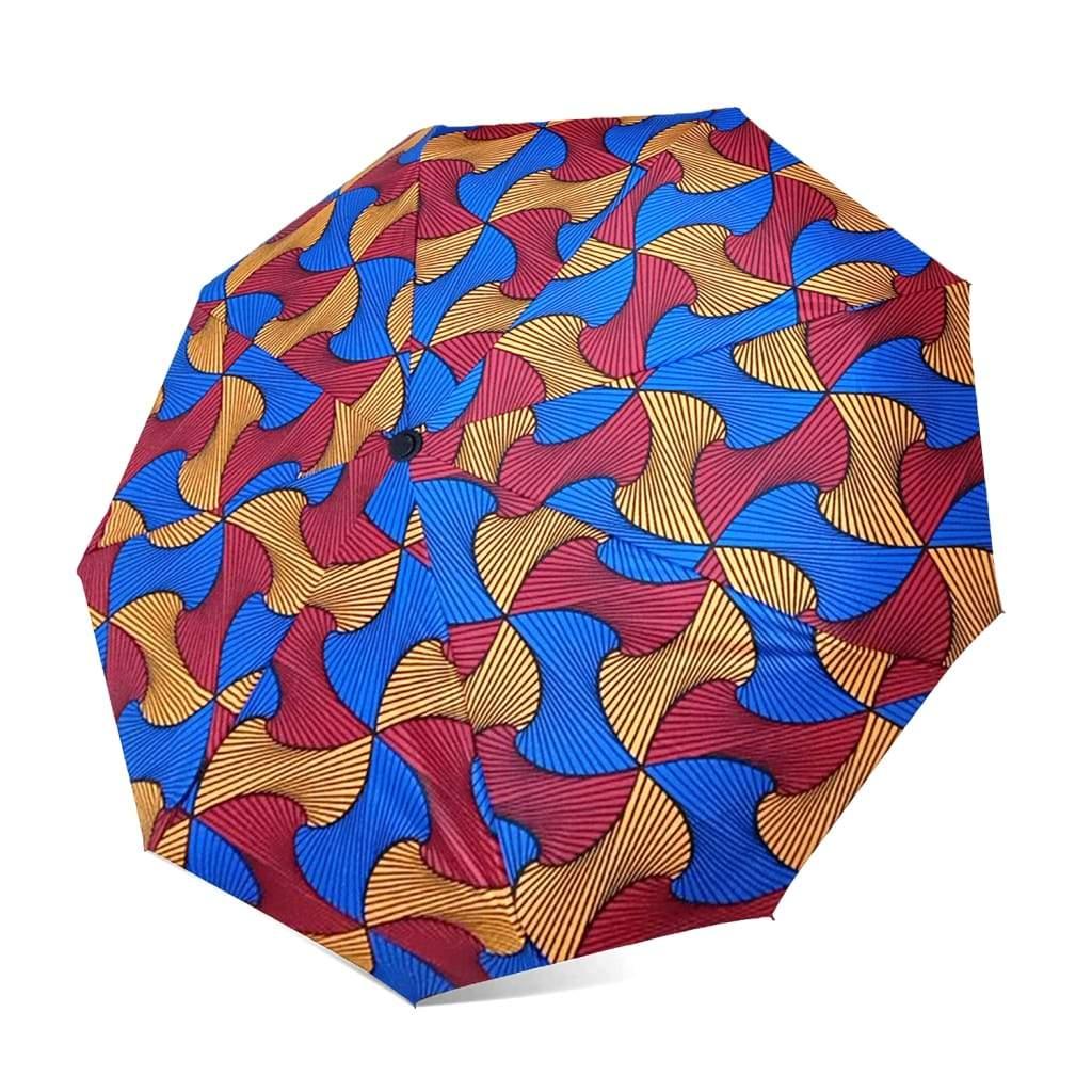 Parapluie automatique imprimé en tissus Africain