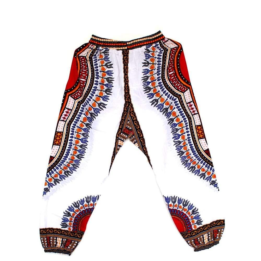 Pantalon en imprimé Dashiki unisexe