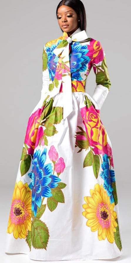 2019 Fashion Summer Party Maxi African Kitenge Dress