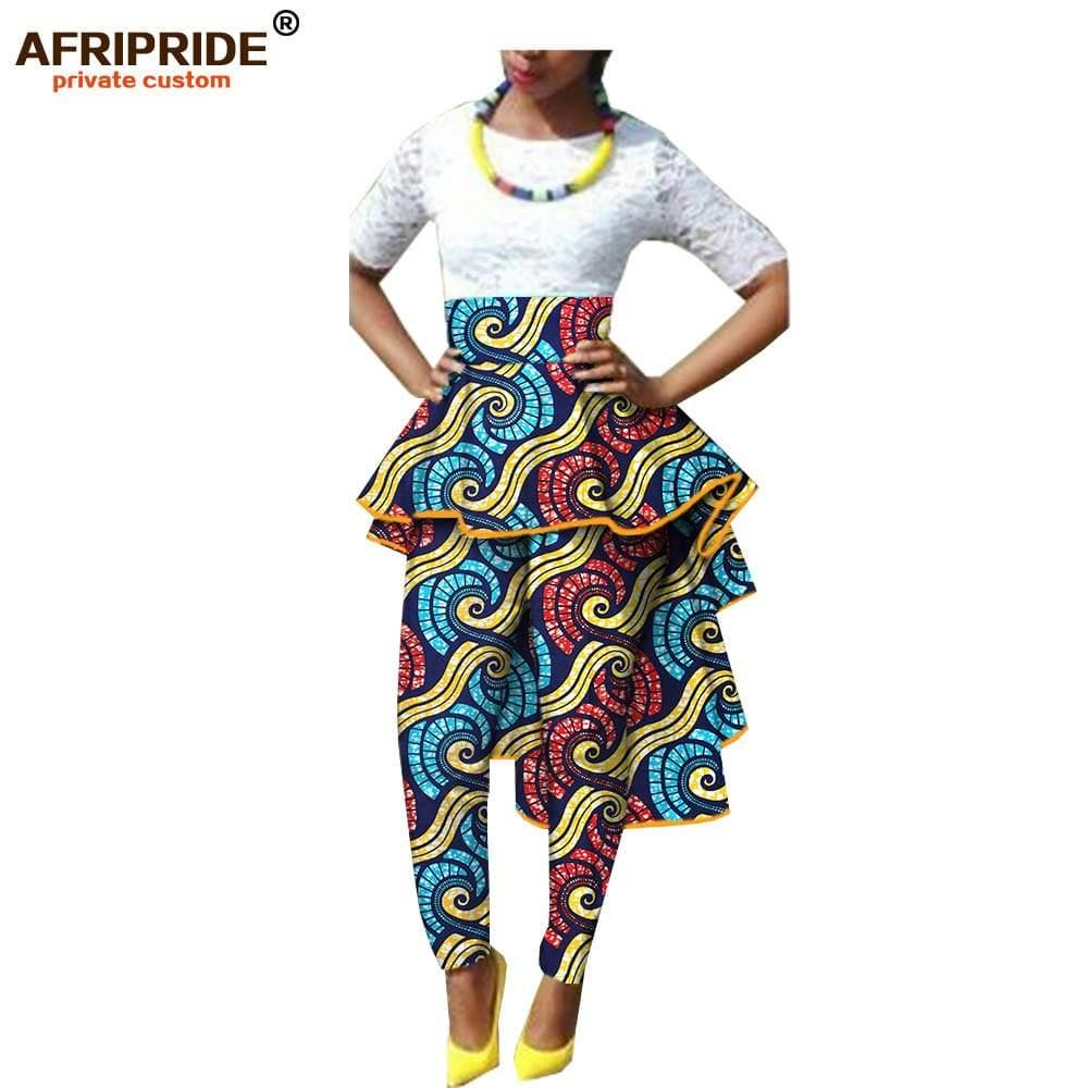 Pantalon Jupe imprimé Wax taille haute
