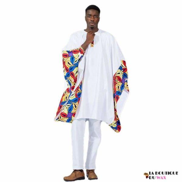 Magnifique ensemble de style Africain de couleur blanche - S