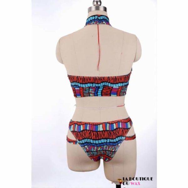 Maillot de Bain Bikini Africain impression Wax - Maillot de