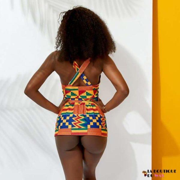 Maillot de Bain Bikini imprimé Kente Africain - Maillot de