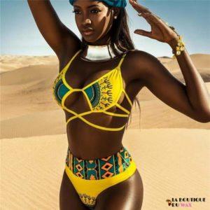 Maillot de Bain Bikini motifs Africain - Maillot de Bain