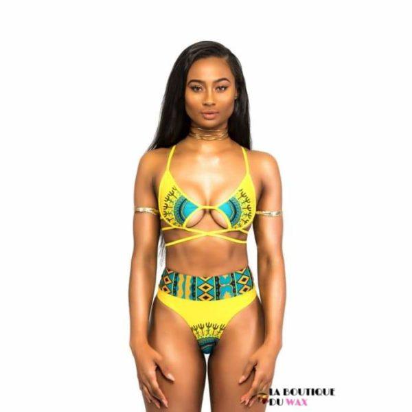 Maillots de Bain Bikini avec imprimé Africain - Maillot de