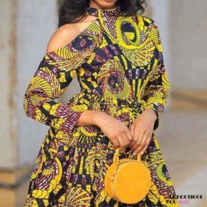 Robe Africaine Design Kitenge