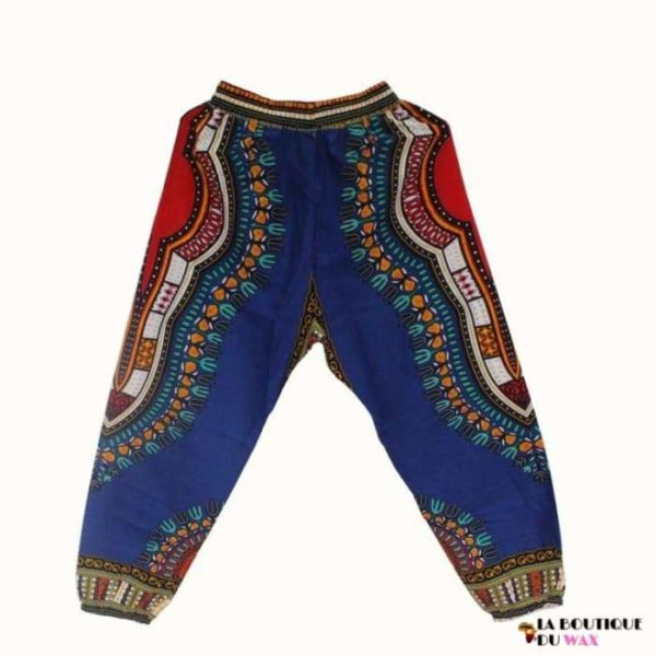 Pantalon en imprimé Dashiki unisexe - blue / Taille unique -