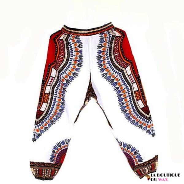 Pantalon en imprimé Dashiki unisexe - GC white / Taille