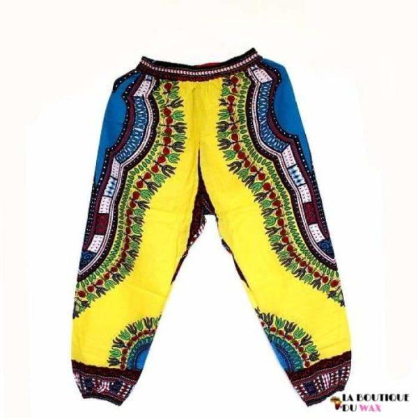 Pantalon en imprimé Dashiki unisexe - GC yellowred / Taille
