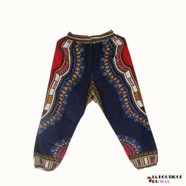 Pantalon en imprimé Dashiki unisexe - navyblue / Taille