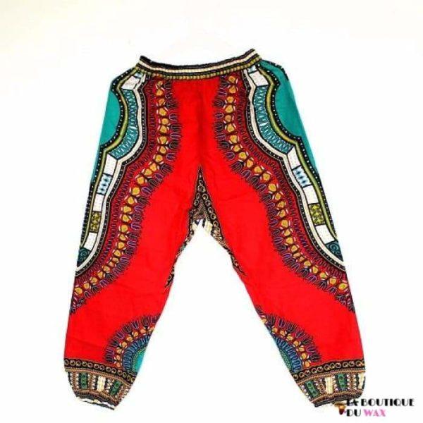 Pantalon en imprimé Dashiki unisexe - red / Taille unique -