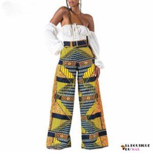 Pantalon imprimé Kente Africain taille haute