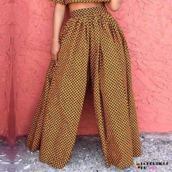 Pantalon imprimé Wax de coupe ample