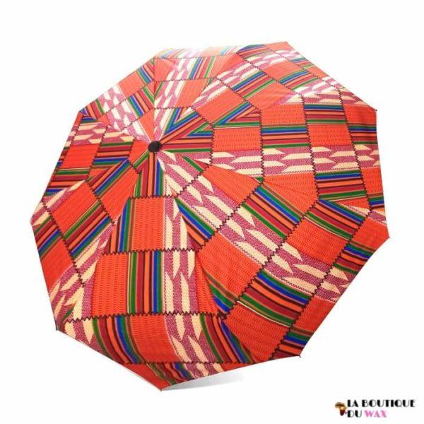 Parapluie automatique imprimé en tissus Africain d'Ankara -