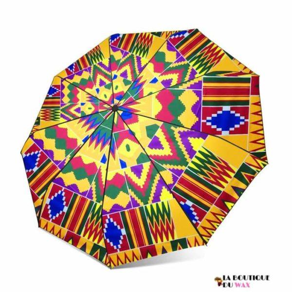 Parapluie automatique imprimé en tissus Africain - Parapluie