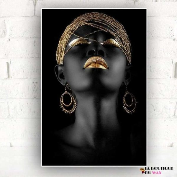 Peinture à l'huile d'un visage de femme Africaine